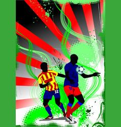 grunge soccer banner colored for designers vector image