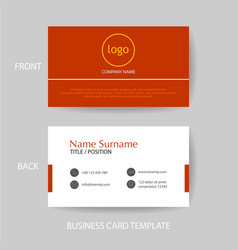 modern and clean business card design template vector image