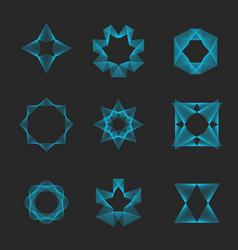 sacred geometry set logo magic esoteric shape vector image
