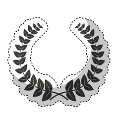 wreath crown frame icon vector image