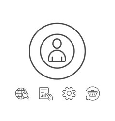 user line icon profile avatar sign vector image