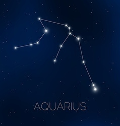 Aquarius constellation in night sky vector image vector image