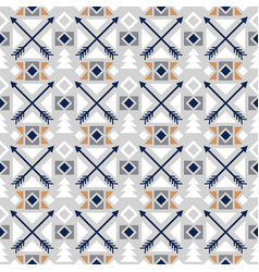 arrows colored ethnic seamless pattern vector image