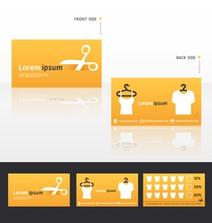 clothes business cards discount vector image vector image