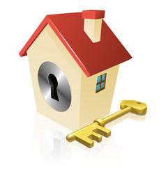 house keyhole key concept vector image