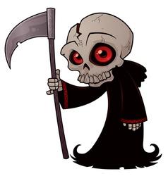 little grim reaper vector image vector image