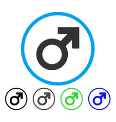 male symbol rounded icon vector image vector image