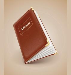 opening menu book vector image vector image