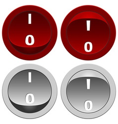 Switch buttons set vector image