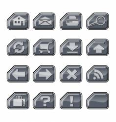 web icons a silver vector image vector image
