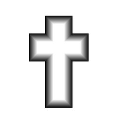 3d cross icon vector