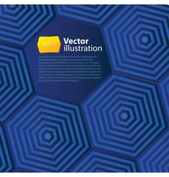 Abstract business background with hexagons vector image