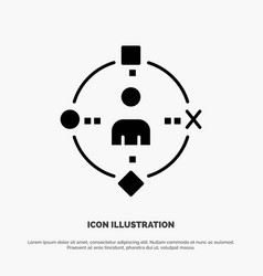 Ambient user technology experience solid glyph vector