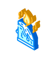 Aroma candles isometric icon vector