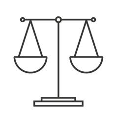 balance equality scale icon vector image