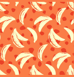 bananas tropic seamless pattern vector image