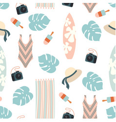 beach holiday design pattern vector image