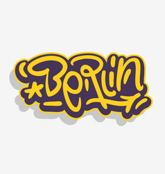 berlin germany urban label sign logo hand draw vector image