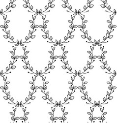 black seamless pattern with drawn branches vector image