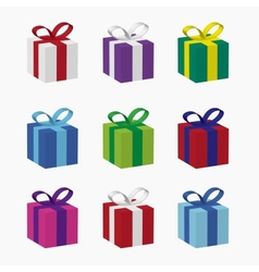 boxes for gifts vector image