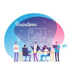 brainstorming concept people meeting on workshop vector image