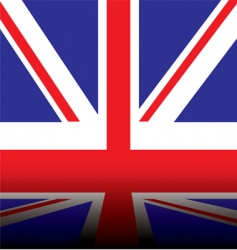 British flag shadow vector image