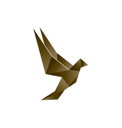 brown low poly bird template vector image