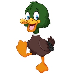 Cartoon baby duck isolated on white background vector image