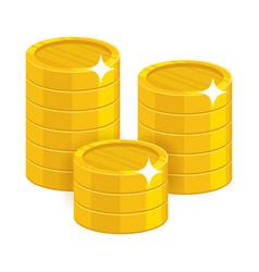 cartoon gold coins vector image
