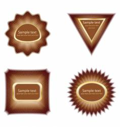chocolate label vector image