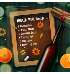 Christmas drink mulled wine vector