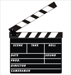 clapboard vector image