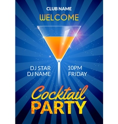Cocktail Invitation design poster Cocktail Party vector image