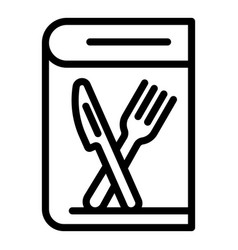 Cooking book icon outline style vector