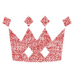 crown fabric textured icon vector image