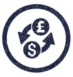 Dollar pound exchange rounded grainy icon vector