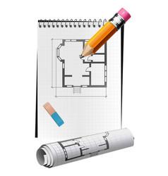 Drawing draft vector