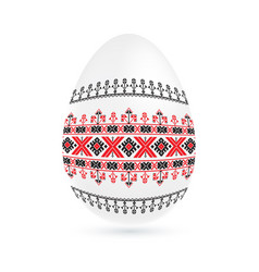 easter ethnic ornamental egg with cross stitch vector image