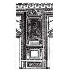 Fragment from the apollo gallery in the louvre vector