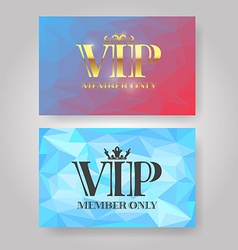 Gold VIP Member card vector