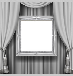 gray ornamental curtain background with a vector image