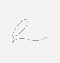 Hand lettering floral b lowercase monogram vector
