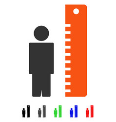 Height meter flat icon vector
