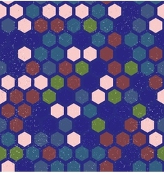 hexagon retro seamless pattern vector image