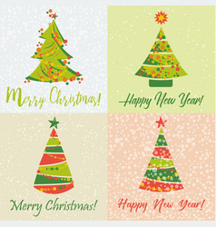 holiday cards for new year and christmas vector image