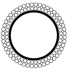 Islamic geometric figures ornament round frame vector