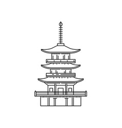japanese pagoda in a outline for the vector image