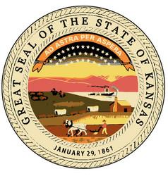 kansas state seal vector image