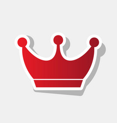 king crown sign new year reddish icon vector image