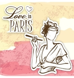 love in paris mademoiselle vector image